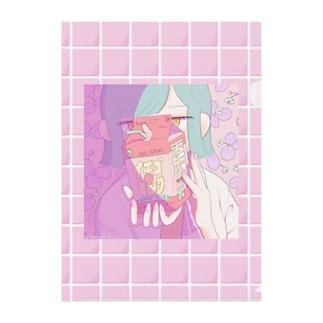 イチゴミルクなクリアファイル Clear File Folder