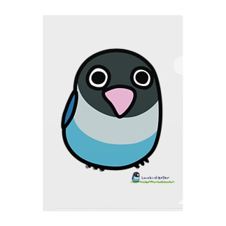 LOVEBIRD BOTAN 前向き Clear File Folder
