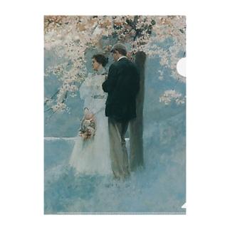 ハワード・パイル 《春・桜の木の下で》 Clear File Folder