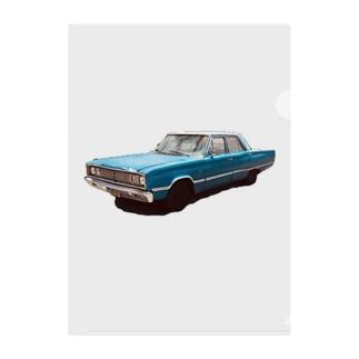 アメリカン車 Clear File Folder