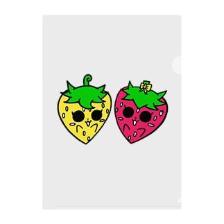 いちごのチーゴくん くるんちゃん&チコちゃん Clear File Folder