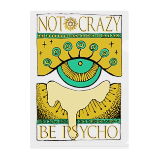 Not crazy be psycho おめめ Clear File Folder