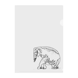 インドゾウ Clear File Folder