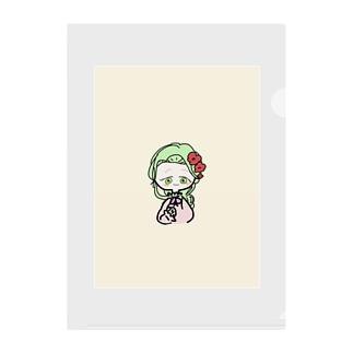 緑の女の子 Clear File Folder