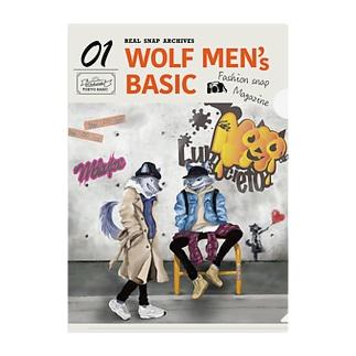 01号WOLF MEN'S BASIC Clear File Folder