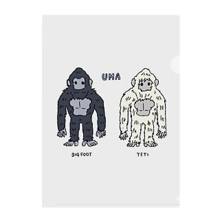 UMA ビッグフット&イエティ Clear File Folder