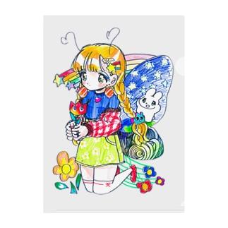 【caution】colorful!! Clear File Folder