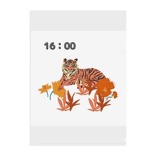 夕方の虎の様子 Clear File Folder