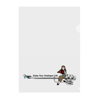 Enjoy Your Analogue Life. Clear File Folder