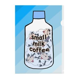 小さいミルクコーヒー(小ミル) Clear File Folder