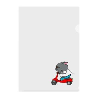 自分のバイクで走り出すフレブル。クロ。 Clear File Folder