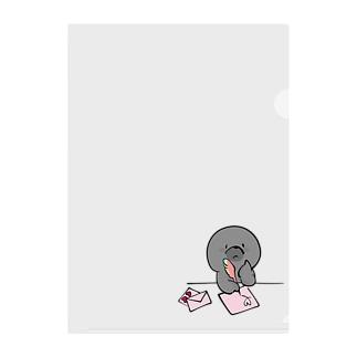 ラブレター描くもぐらちゃん Clear File Folder