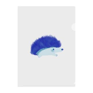 青色ハリネズミ Clear File Folder