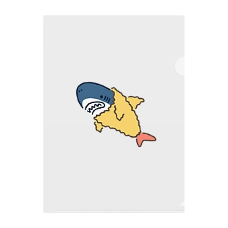 サメは海老天ごっこがお好き Clear File Folder