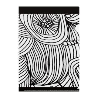 line、flower Clear File Folder