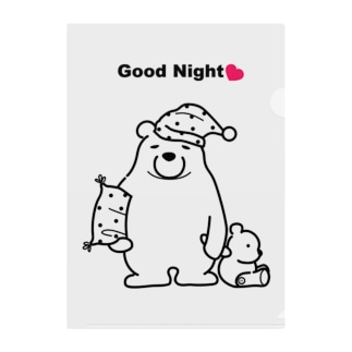 Good Night Clear File Folder