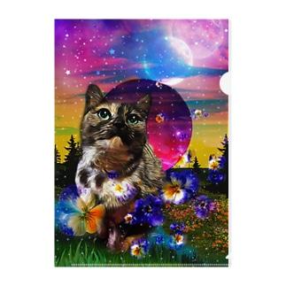 ゆめみるサビ猫 Clear File Folder