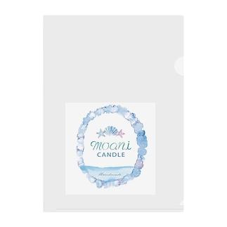 moani 海デザイン Clear File Folder