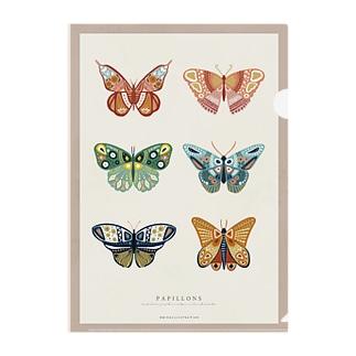 蝶々と蛾と Clear File Folder