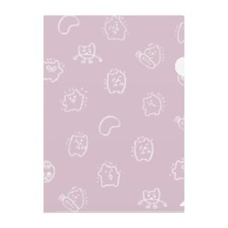 Pink Hotosan Clear File Folder