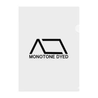 MONOTONE DYED Clear File Folder