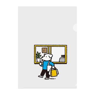 お買い物犬 Clear File Folder
