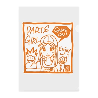 GAME ON! 【SPICY ORANGE】 Clear File Folder