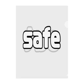 safe/out Clear File Folder