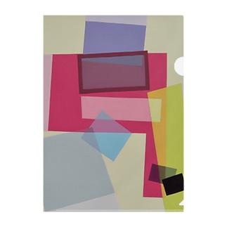 ララ Abstract letter series Clear File Folder