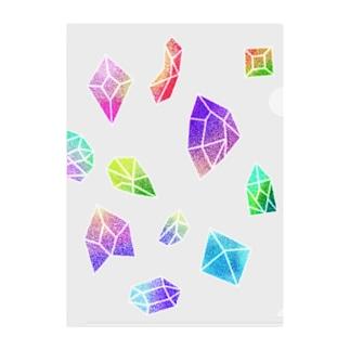 ラメ宝石 Clear File Folder
