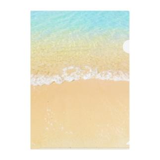 Island wave Clear File Folder