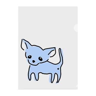 ゆるチワワ(ブルー) Clear File Folder