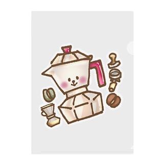 陽気な気分のマキネッタちゃん Clear File Folder