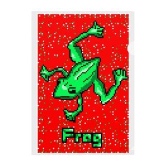 カエル.Frog Clear File Folder