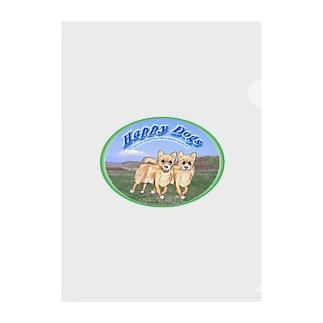 kigaruya Happy Dogs 草原 Clear File Folder