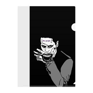 Xio Purple joker tattoo Clear File Folder