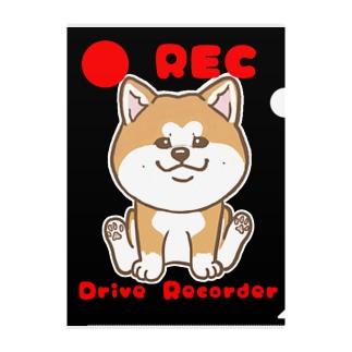 Rec秋田犬 Clear File Folder