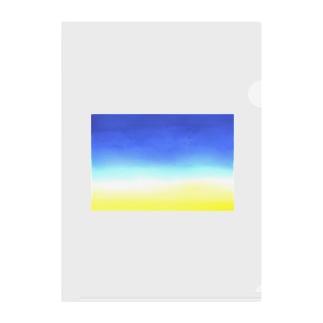 朝焼けと青空 Clear File Folder