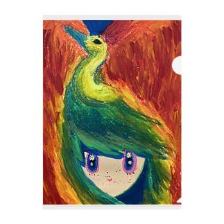 星を抱く子供を導く不死鳥 Clear File Folder