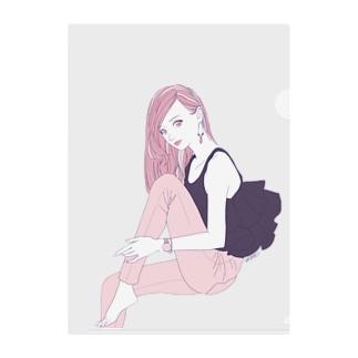 REIWA GIRL Clear File Folder