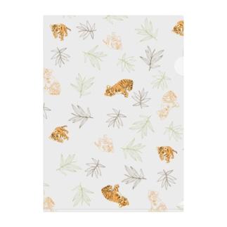 little tiger Clear File Folder
