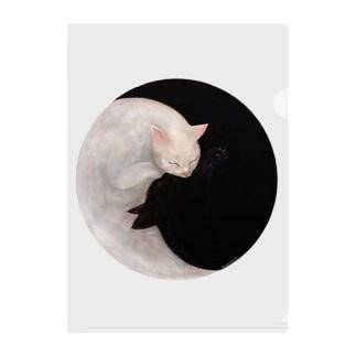 Yin and Yang Clear File Folder