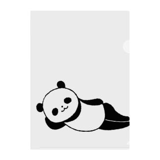 ねパンダ Clear File Folder