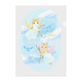 猫の天使たち2 Clear File Folder