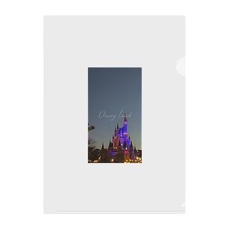 個人撮影シンデレラ城 Clear File Folder