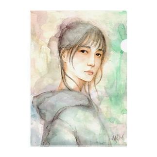 KELLYSTORE@suzuriのpurple rain Clear File Folder