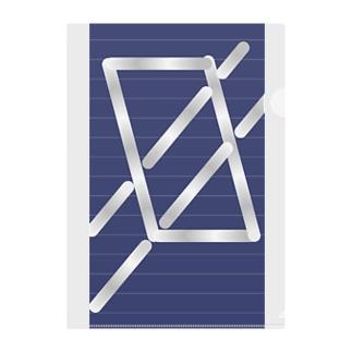 四角パターン3 Clear File Folder