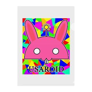 USAROID(ウサロイド) Clear File Folder