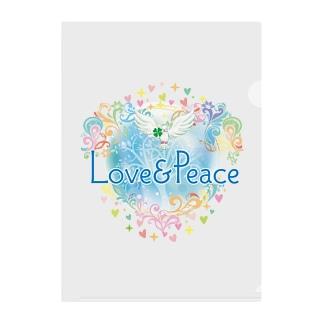 Love&Peace大人用ロゴ Clear File Folder