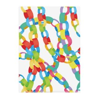 paper chain Clear File Folder